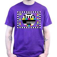 T-Shirt: Testbild Violett